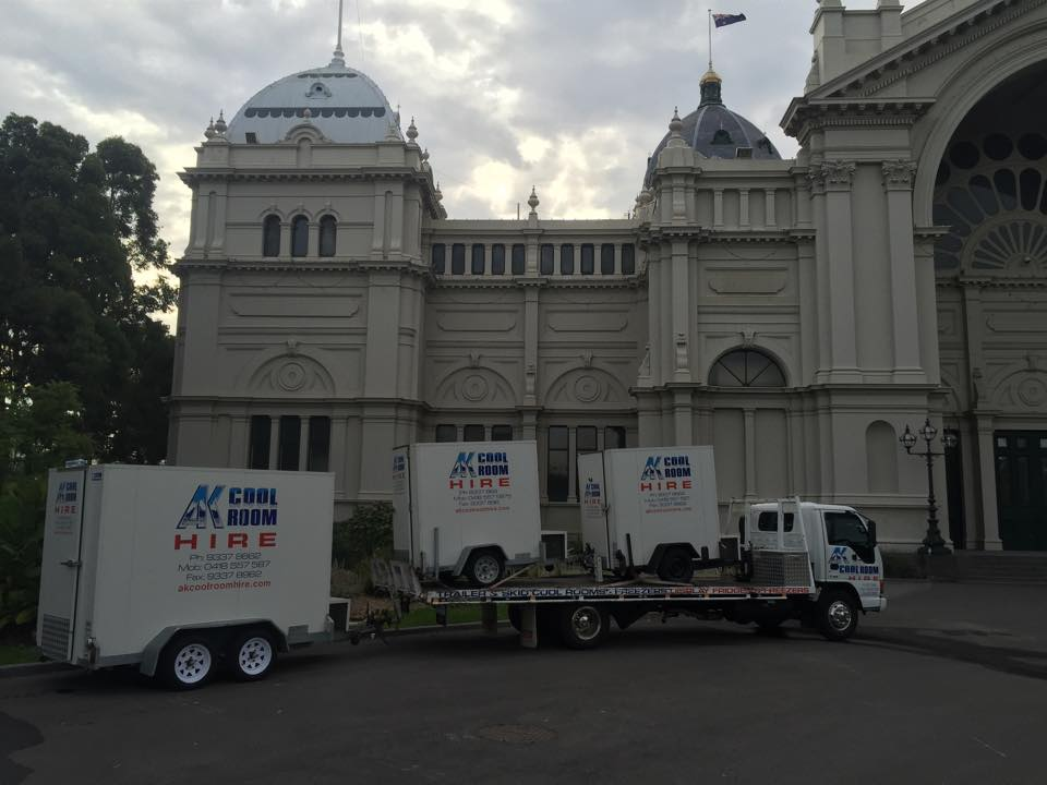 Coolroom and Freezer Hire to the Carlton Royal Exhibition Building