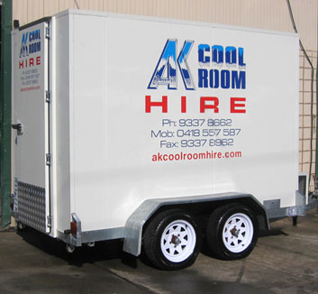 Trailer Cool Rooms or Freezers